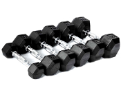 5 LB Rubber Hex Dumbbell