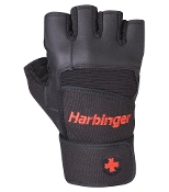 Harbinger Pro WristWrap Lifting Gloves