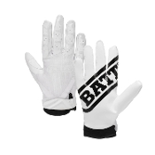 Battle Ultra-Stick Receiver Gloves - Youth White
