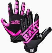 Battle Ultra-Stick Receiver Gloves - Youth Black/Pink
