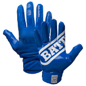 Battle Double Threat Receiver Football Gloves - Adult Blue