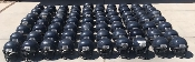 Over 100 Used Adult Schutt DNA Pro Plus Football Helmets - Navy