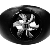 Battle Spinner Mouthguards - Black/Silver