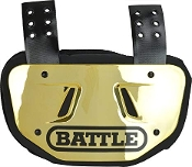 Adult Battle Chrome Back Plate - Gold